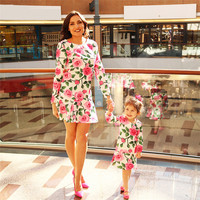 6262cce21c8b3 Summer Mommy And Me Clothes Matching Outfits Fashion Floral Family Look Mother  Daughter Dresses Maxi Vestidos