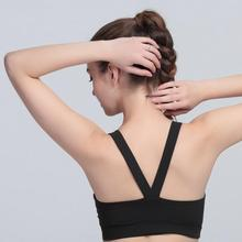 449f4287dd Women Fitness Running Seamless Padded Underwear Y-Shape Halter Tops  Shockproof Quick Dry Custom Sports