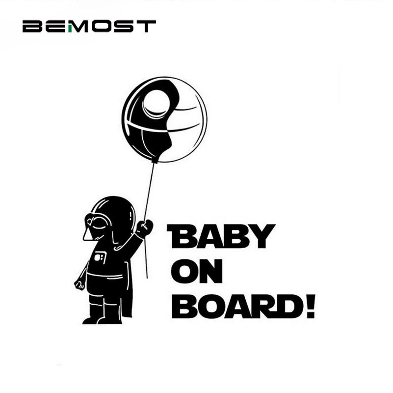 BEMOST стикер для автомобиля «Baby On Board» «Star Wars», предупреждающий знак, украшение автомобиля, аксессуары для стайлинга автомобиля для всех автом...
