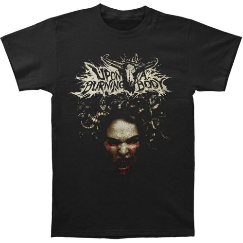 New Upon A Burning Body Mens Cotton Music T Shirts Black