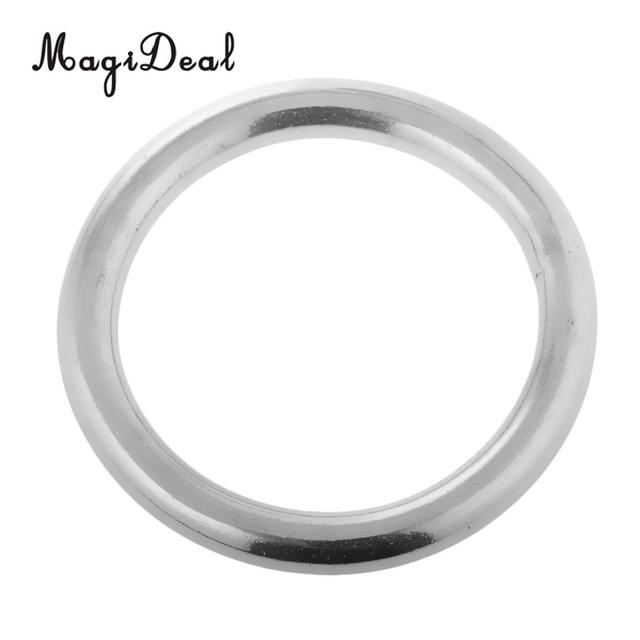 304 Stainless Steel Boat Marine Welded Ring O Round Ring Polished Circle 12*50mm