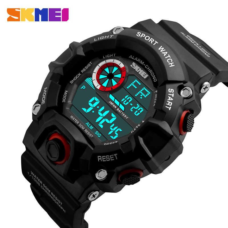 SKMEI Swim Waterproof Watch G Style Men Sports Watches Chronograph Military Digital Wristwatches Men Male Electronic Clock Saat
