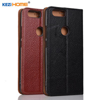 ZTE Nubia Z17 Mini Case KEZiHOME Litchi Genuine Leather Flip Stand Leather Cover Capa For Nubia