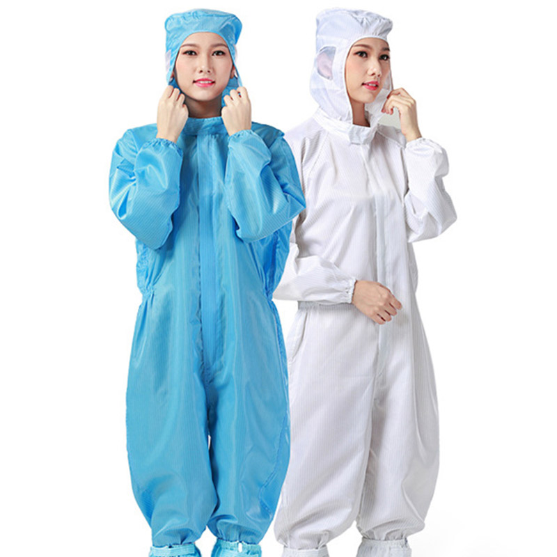 Anti-static Clothing Hooded Dust-proof Coveralls Cleanroom Garments Factory Clean Food Paint Work Protective Clothing Unisex tiered flutter sleeve top
