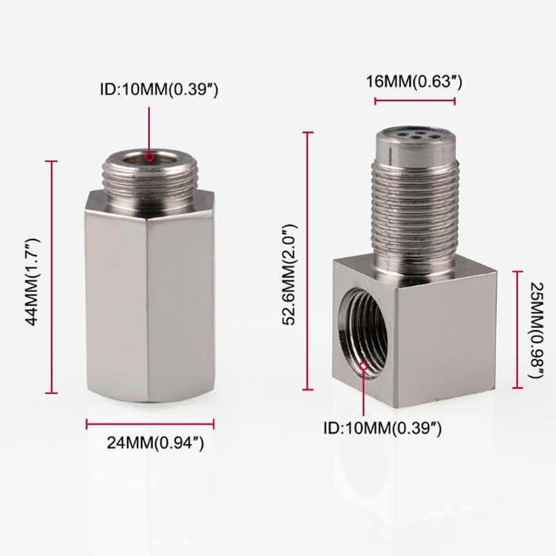 90 grau Sensor De Oxigênio Carro Espaçador Luz Do Motor da Verificação CEL Bung Mini Conversor Catalítico M18 x 1.5