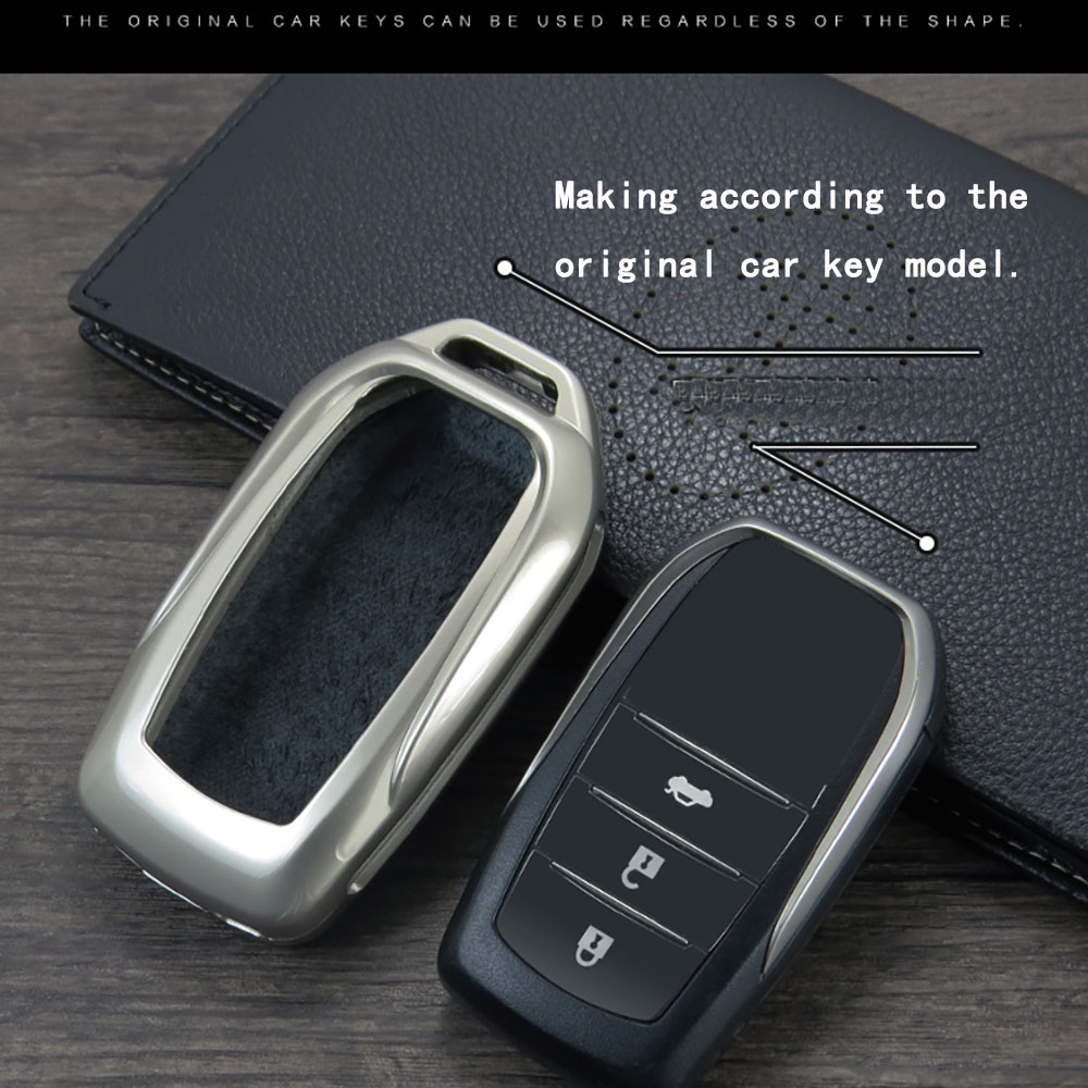 2019 Zinc Alloy Key Cover Case For Toyota Chr C-hr Land Cruiser 200 Avensis Auris Corolla Car Styling Key Protection keychain