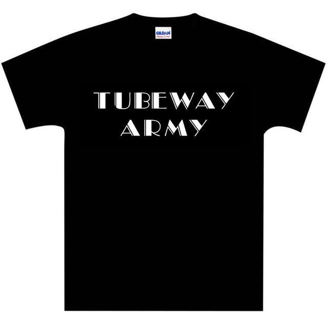 1ff49eda5 METALLIC SILVER Tubeway Army 1978 Period Text Logo T-Shirt - Gary Numan -  NEW 2018 Brand T Shirt Homme Tees