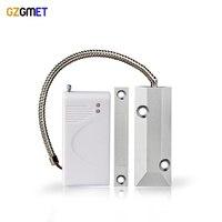 GZGMET Metal Roller Shutter Door Detector 433mhz Sensor Magnetic Switch Alarm Gate Magnetic Window Alarm