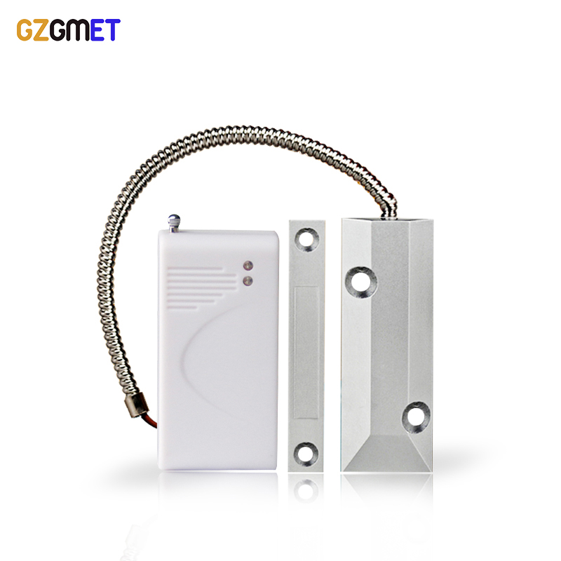 GZGMET Metal Roller Shutter Door Detector 433mhz Sensor Magnetic Switch Alarm Gate Magnetic Window Alarm magnetic mixing ink roller isolated ring