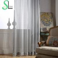 Ladder Gray Fresh Simple Elegant Living Room Bedroom Curtain Solid Sheer Curtains Chinese Window Fabric Tulle