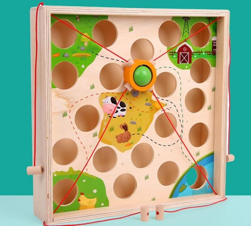 Creative Wooden Ball Maze Game 2