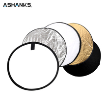 ASHANKS 60CM/23″ 5 in 1 Round Reflector for Camera Photo Studio Retrato Collapsible Photography Accessories / Flash Reflector