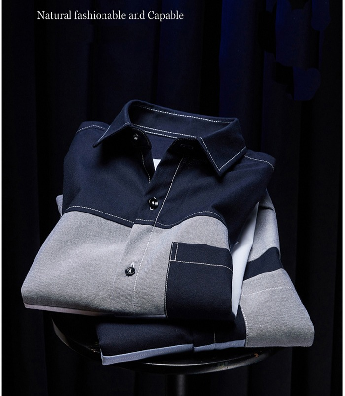 Men Fashion 2019 Cotton Short Sleeve Shirts Patchwork Male Contrast Color Slim shirt Mans Pocket Business Casual Boys Clothing