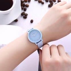 Mujer женские часы Баян для женщин кожа аналоговые кварцевые Круглый женские наручные часы relogio
