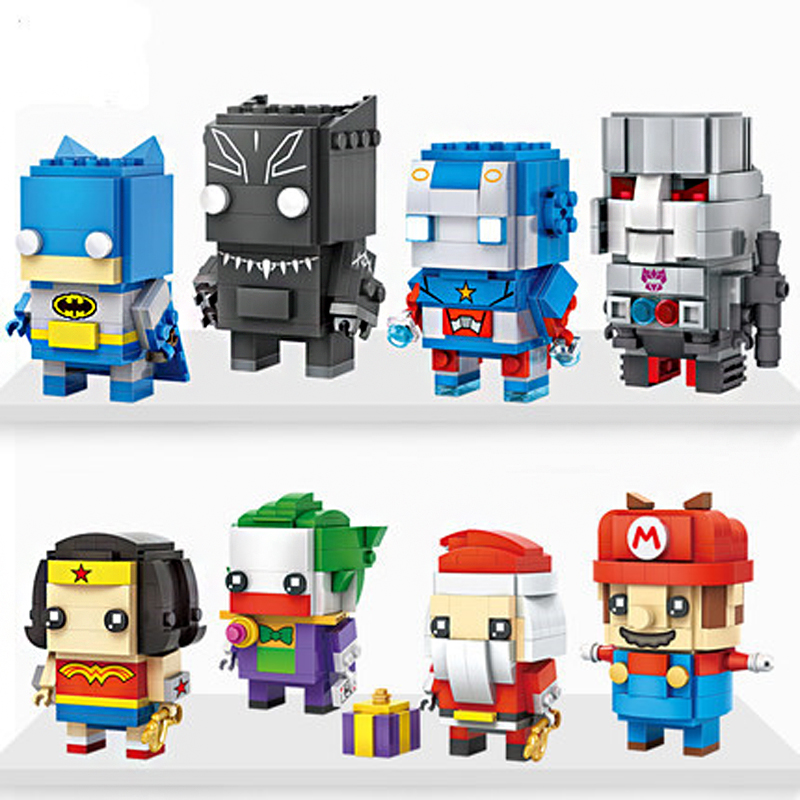 Marvel DC super heroes LOZ mini diamond building block Batman wonder woman Transformation super robot figures nanoblock toys loz dc comics super heroes mini diamond building block batman