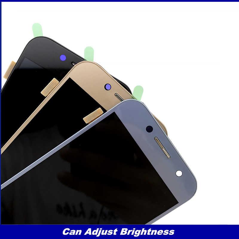 اختبار A320 شاشات lcd لسامسونج غالاكسي A3 2017 A320 A320M A320F شاشة الكريستال السائل مجموعة المحولات الرقمية لشاشة تعمل بلمس سطوع استبدال
