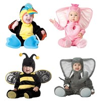 Baby Christmas Halloween Cosplay Costume Parrot bee elephant Jumpsuit Boys Girls Clothes Set Kids Outfits