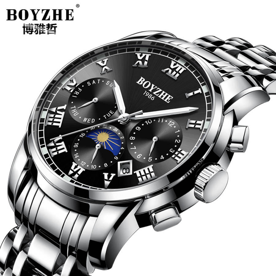 Luxury Automatic Mechanical Watch Business Men Brand Stainless Steel Army Military Wrist Watch Clock Relogio Masculino Male цена и фото