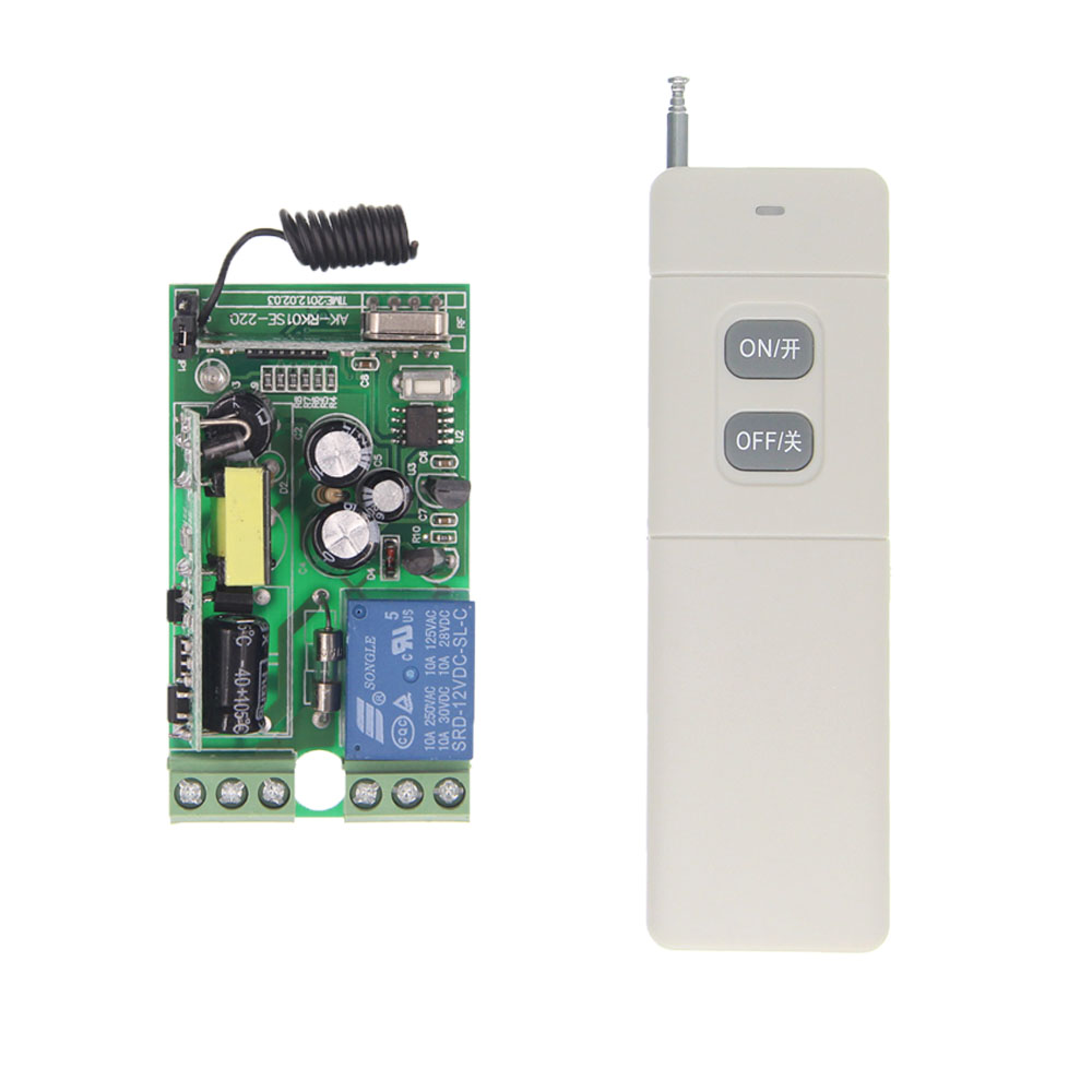 3000m AC 85-265V 110V 220V 1CH 1 CH 10A RF Wireless Remote Control Switch System, Receiver+ON OFF Transmitter ,315/433 MHz new ac220v 1ch 1channe rf wireless remote control switch system 1x transmitter 4x receiver 315 433 mhz