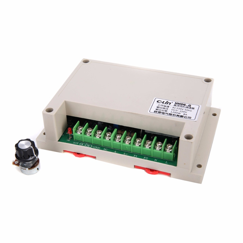 1Pc HHD6 G PWM Motor Speed Controller Input AC220V Output DC0 220V 1200W 10~+65C Mayitr Electrical Supplies For J SZ KC50 Motor