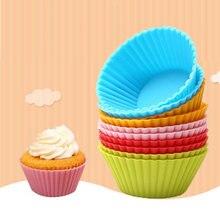 12 sztuk Muffin formy silikonowe làm pieczenia ciastko Cupcake statki formy làm pieczenia ciasto dekorowanie narzędzia dost