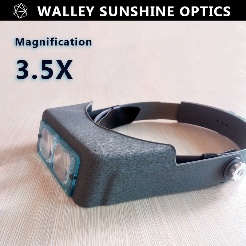 3.5X Optivisor Head Helmet Magnifier Watch Repairing Magnifying Glasses Eye Loupe Headset Headband Magnifier with 3.5X Lens