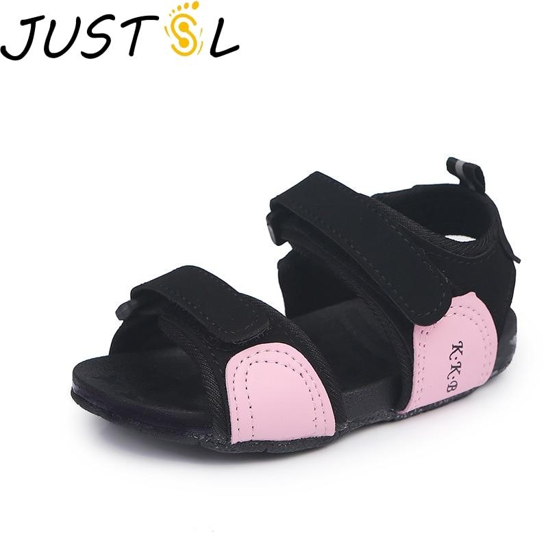JUSTSL 2018 summer childrens beach shoes boys girls sport sandals baby soft bottom kids comfortable shoes