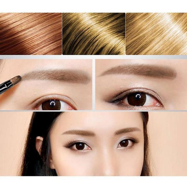 Natural Easy To Wear Brown Waterproof Tint Eyebrow Henna With Mascara Eyebrows Paint Brush Set Beauty 2