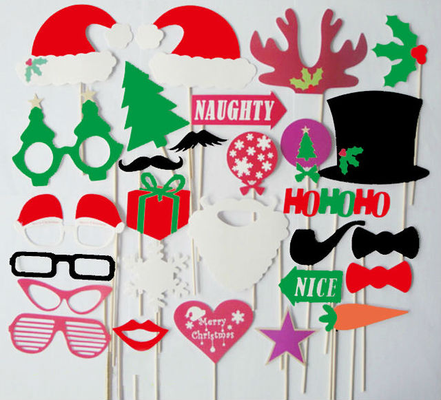 28pcs christmas photo booth props moustache lips on a stick supplies 28pcs christmas photo booth props moustache lips on a stick supplies decoration solutioingenieria Image collections