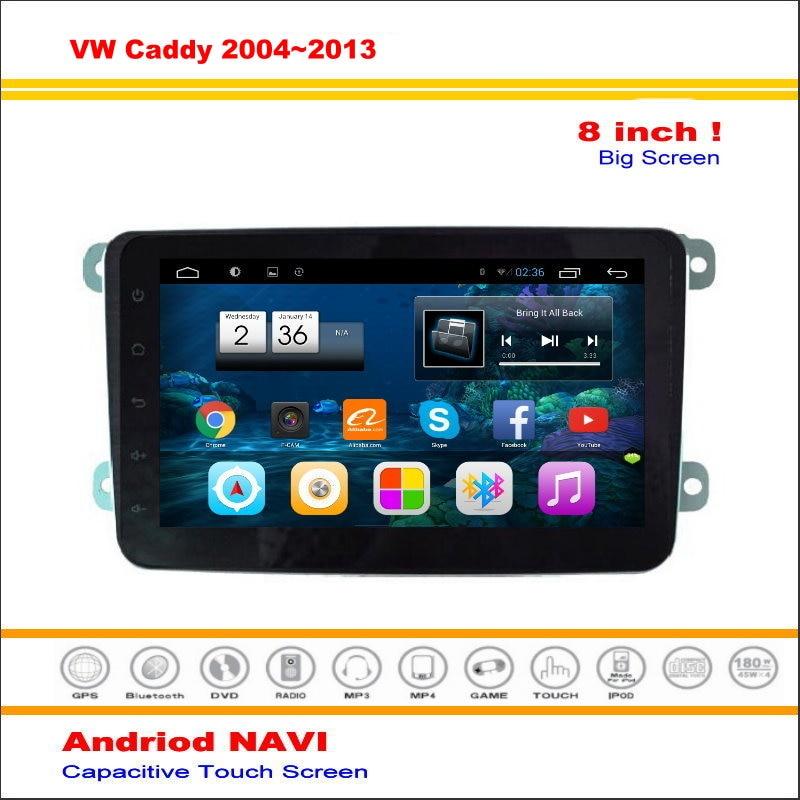 Android sistema de navegación multimedia de coche para volkswagen vw caddy/vento