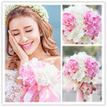 New arrival Bride holding flowers Romantic Wedding Colorful Bride 's Bouquet, pink and white bridal bouquets Wedding Accessories