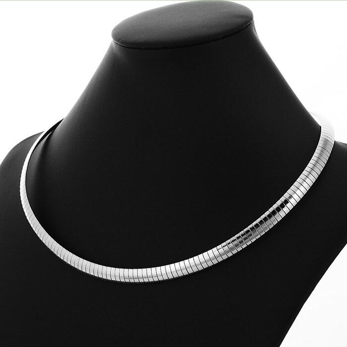 Cadenas de acero inoxidable 316l serpiente choker collar para las mujeres \\  hombres de alta calidad