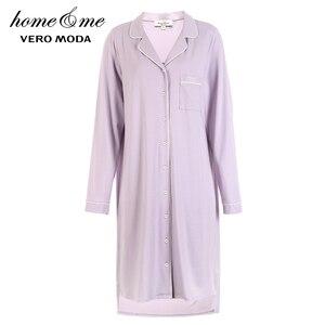 Image 5 - Vero Moda Neue Hemd Taste Reinem Homewear Kleid