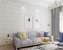 beibehang Modern minimalist brick deer tv background papel de parede wall paper marble white brick bedroom living room wallpaper цены