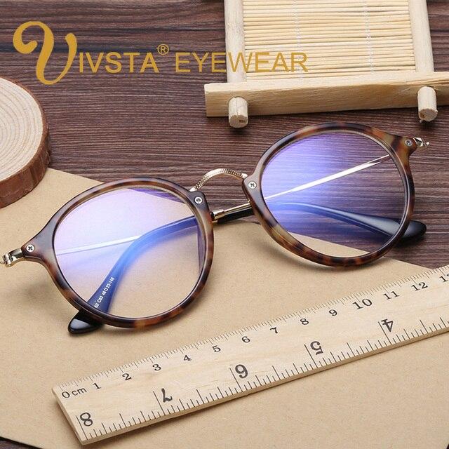 bce13937a84 IVSTA Round Glasses Mens Tortoise Eyeglass Frames Metal Alloy TR Pink  Glasses Women Optical Eyewear Transparent Harry potter
