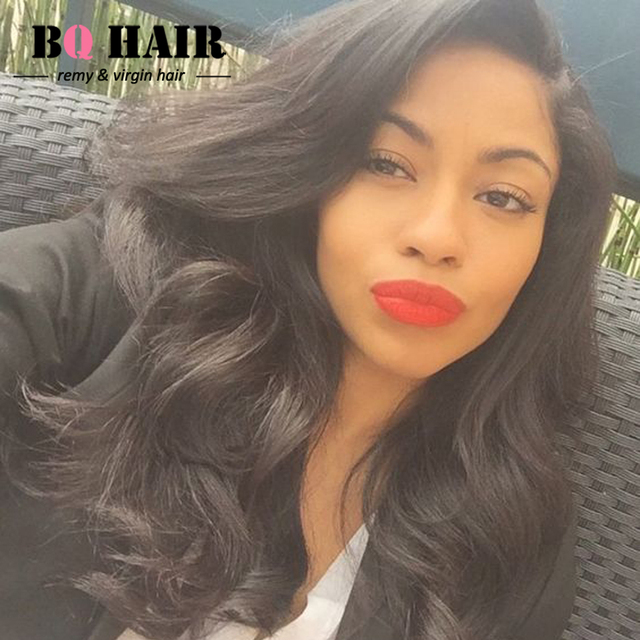 BQ Hair Mink Pre Plucked 360 Lace Frontal with Bundle 360 Band with 3 bundles 8A Remy Peruvian Virgin Hair Body Wave Soft #1B