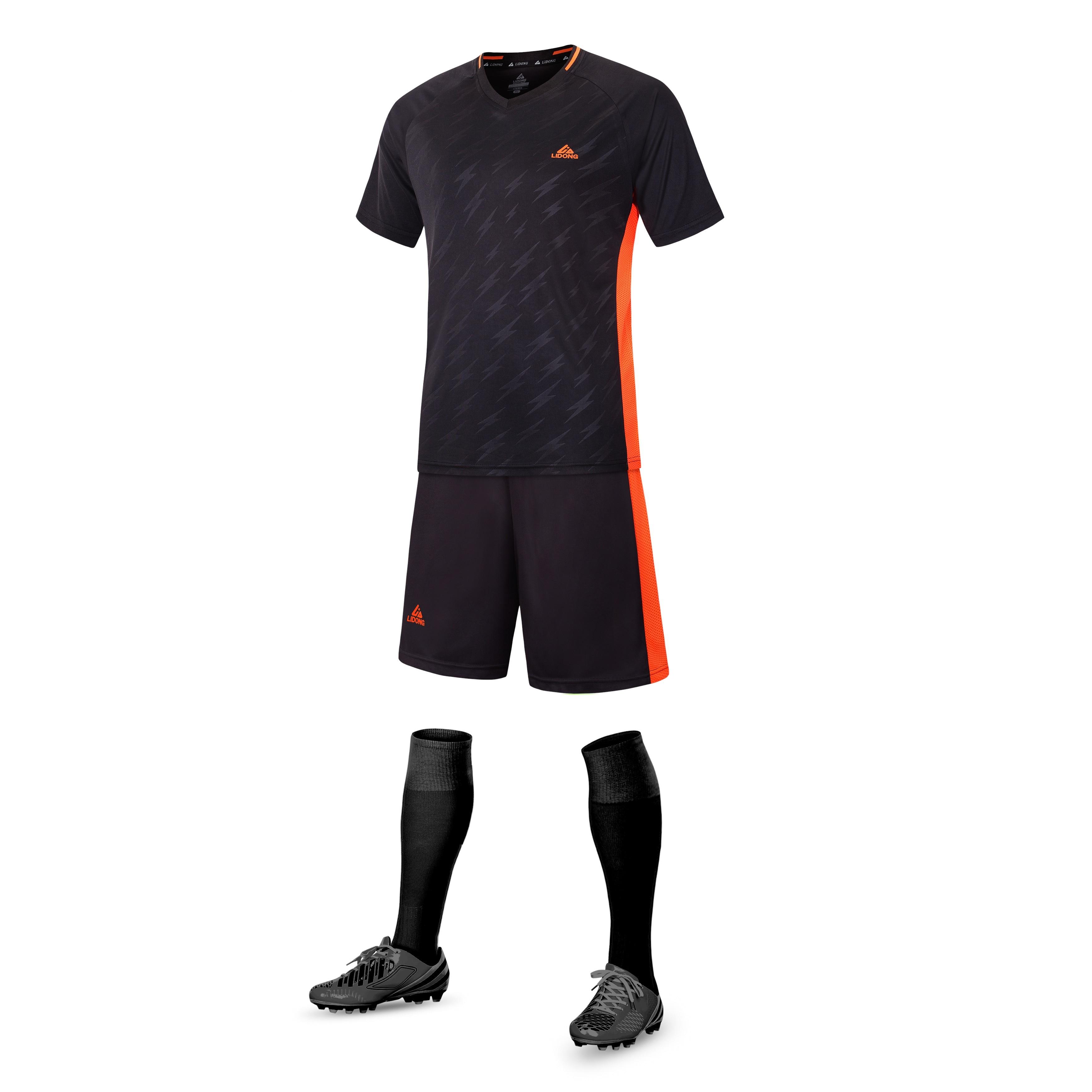 LiDong new Adult/Kids Football Jersey,Soccer Uniform,Quick Dry Soft Breathable Training Set, Teens sports,DIY Customization 020