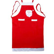 Red Sleeveless Christmas Santa Claus Apron Christmas Decorations for Home Red Cloth Adult Apron