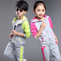 Ropa ropa los muchachos chándal para las niñas de ropa para niños pieza ajustada chicos de deporte exterior ropa deportiva set 20#