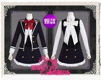 Diabolik Lovers Komori Yui Cosplay Costume Japanese School Uniform Coat+Shirt+Skirt+Vest+Bowknots
