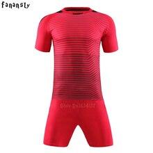Top quality soccer jerseys 2017 2018 Adult customized football jerseys set  kits men DIY soccer uniforms training suits new e573bd15f