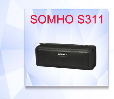 Original SOMHO S327 Waterproof Mini Bluetooth Wireless Portable Music Speaker Outdoor Stereo Hands Free Speakers with FM Radio