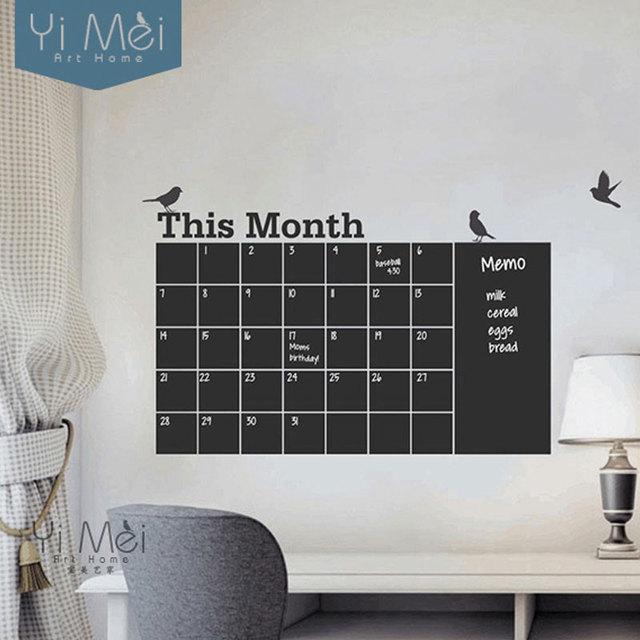 Deze maand kalender planner wallpapers muursticker decals diy ...