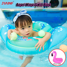 JIAINF 0.3mm Inflatable Angel Baby Swimming Ring  Bathing Circle For Children An A Doll