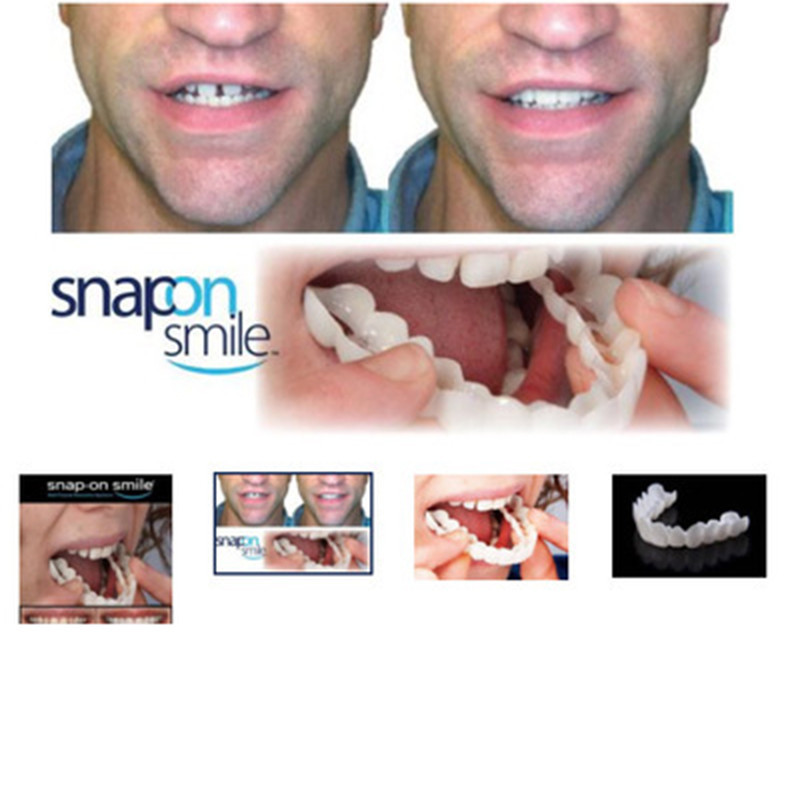 Natural Cosmetic Fake Tooth Cover Snap On Silicone Perfect Smile Veneers Teeth Upper Beauty Tool Teeth for Men Women Drop Ship 2