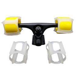 Двойной катание скейтборд колеса комплект дельфины джемпер держатель узнать скейт трюки быстрее начинающих аксессуары для скейтборда