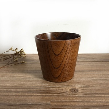 Natural Wood Cup Japanese Style Wooden Water Beer Wine Tea Milk Cup Drinkware High Quality WB294