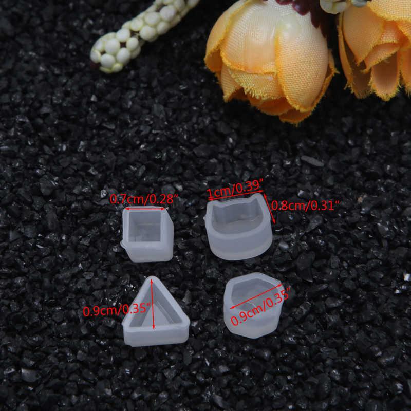 DIY silikonowe kolczyki Ear Stud tworzenie form biżuteria forma odlewnicza z żywicy narzędzie rzemieślnicze