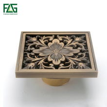 цены 10 *10 cm 4 inch Bathroom accessories brass Antique Square Floor Drain waste drains shower drainer