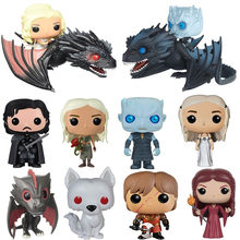 FUNKO POP Song Of Ice And Fire Game Of Thrones Jon snow Night king Daenerys Drogon pvc action figure model toys for kids gift(China)